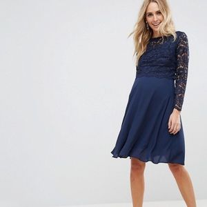 ASOS maternity navy dress brand new